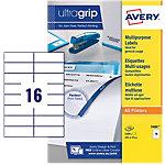 Étiquettes pour photocopieur AVERY Zweckform DP167 100 Blanc 105 x 37 mm 100 Feuilles