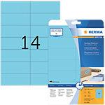 Étiquettes repositionnables HERMA Bleu 105 x 42,3 mm 20 Feuilles