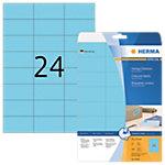 Étiquettes repositionnables HERMA 4468 A4 Bleu 70 x 37 mm 20 Feuilles de 24 Étiquettes