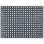 Paillasson Floortex Nid d'abeille Caoutchouc Noir 80 x 60 cm