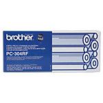 Ruban fax D'origine Brother PC304RF Noir PC 304RF