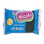 Éponges Nicols usage courant Vert 2 Unités