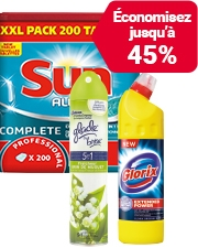 Àpartirde €0,99 Découvrez nos produits de nettoyage