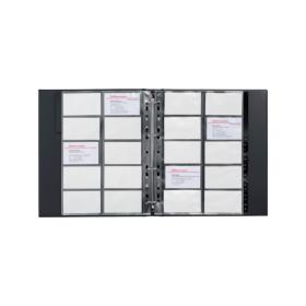 Office Depot Visitenkartenbuch A4 400 Karten Schwarz 26 X 03