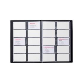 Office Depot Visitenkartenbuch A4 400 Karten Schwarz 23 X 03
