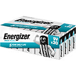 Energizer 9 V Alkali Batterien Max Plus 6LR61 20 Stück