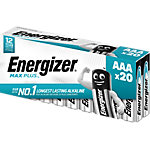 Energizer AAA Alkali Batterien Max Plus LR03 1,5 V 20 Stück