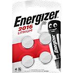 Energizer Knopfzellen CR2016 3 V Lithium 4 Stück