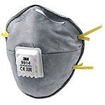 3M Atemschutzmaske 9914 Polypropylen Universal Grau, Gelb 10 Stück