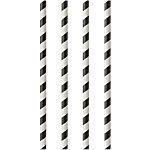 PAPSTAR Trinkhalme 87010 Schwarz, Weiß 100 Stück