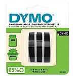 DYMO 3D Schriftband S0847730 Weiss auf Schwarz 9 mm x 3 m