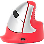 R Go Tools Ergonomische Maus Vertikale Maus Rot, Silber