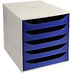 Office Depot Schubladenbox Grau, Blaue Schubladen 28,4 x 34,8 x 29 cm