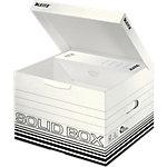 Leitz Aufbewahrungsbox Solid Weiss Karton 32.5 x 36 x 27 cm 10 Stück