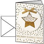 Sigel Handgemachte Weihnachtskarten Konfetti Stern DS 059 A6 220 g
