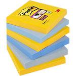 Post it Super Haftnotizen 76 x 76 mm Farbig assortiert 6 Stück à 90 Blatt