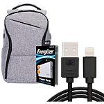 Energizer Laptop Rucksack mit UE10004QC Powerbank Grau 30 x 10 x 40 cm