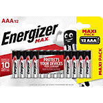 Energizer AAA Alkali Batterien Max LR03 1,5 V 12 Stück