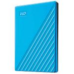 Western Digital 2 TB Festplatte Portable Extern My Passport USB 3.2 Typ A Automatische Sicherung, Kennwortschutz Blue