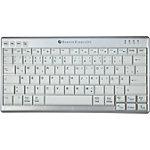 BakkerElkhuizen Tastatur UltraBoard 950 Wireless QWERTZ Grau, Weiss