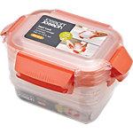 Joseph Joseph Lebensmittelbehälter Nest Lock Polypropylen Transparent, Orange 3 Stück