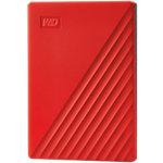 Western Digital 2 TB Festplatte Portable Extern My Passport USB 3.2 Typ A Automatische Sicherung, Kennwortschutz Rot