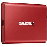 Samsung SSD Festplatte T7 500 GB Metallic Red