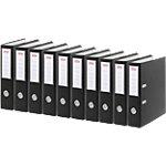Office Depot Ordner 70 mm Karton 2 Ringe A4 Schwarz 10 Stück