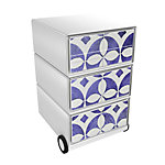 Paperflow Easybox Rollcontainer Faience mit 4 Schubladen 642 x 390 x 436 mm