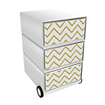 Paperflow Rollcontainer Gilded Waves EasyBox mit 3 Schubladen