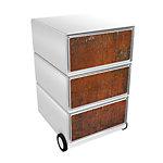 Paperflow Rollcontainer Rust EasyBox mit 3 Schubladen