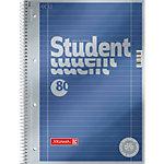 BRUNNEN A4 Student Premium Drahtgebunden Notizbuch mit blauem Kartoneinband Liniert 80 Blatt