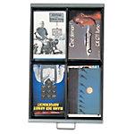 Bisley Multidrawer Schubladeneinsatz 4 Fächer Schwarz 51 mm Pack 5 Stück