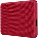 Toshiba 2 TB Externe Tragbare Festplatte Canvio Advance Rot