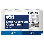 Tork Küchenrollen Premium extra saugfähig 3 lagig 4 Rollen à 51 Blatt