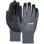 M Safe Handschuhe Mikroschaum Nitril Größe M Schwarz, Grau 2 Stück