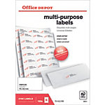 Office Depot Etiketten mit geraden Ecken Weiß 2100 Stück
