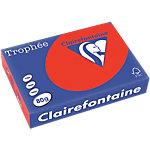 Clairefontaine 8175C Farbpapier DIN A4 80 gsm Korallenrot 500 Blatt