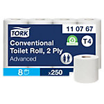 Tork Toilettenpapier T4 Advanced 2 lagig 8 Rollen à 250 Blatt