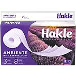 Hakle Toilettenpapier Lavendelduft 3 lagig 8 Rollen à 150 Blatt