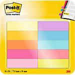 Post it Index Haftstreifen Page Marker Farbig sortiert 1,27 x 4,44 cm 10 Stück à 50 Streifen