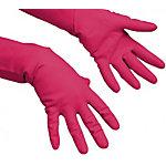 Vileda Handschuhe 100154 Naturlatex Größe L Rot