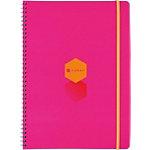 Foray Spiral Notizbuch Rosa, Orange DIN A4 Kariert Nicht perforiert 100 Blatt