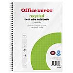 Office Depot Collegeblock Spiral Recycelt Weiß Kariert Mikroperforiert DIN A5+