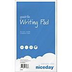 Niceday Schreibblock Kariert Blau, Weiß Kariert DIN A5 14,8 x 21 cm Pack 5
