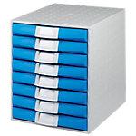 Exacompta Schubladenbox Multiform Polystyrol, Polypropylen Lichtgrau, Blau 28.4 x 33.8 x 38.7 cm