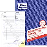 AVERY Zweckform Auftragsbuch 1739 Weiß, Gelb DIN A5 Perforiert 2 à 40 Blatt