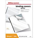 Office Depot Einbanddeckel Hochglanz A4 Weiss 100 Stück