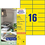 AVERY Zweckform  Etiketten A4 Gelb 105 x 37 mm 100 Blatt à 16 Etiketten