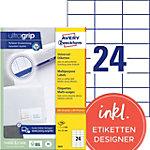 AVERY Zweckform Universaletiketten 3474 Ultragrip Weiss 70 x 37 mm 100 Blatt à 24 Etiketten
